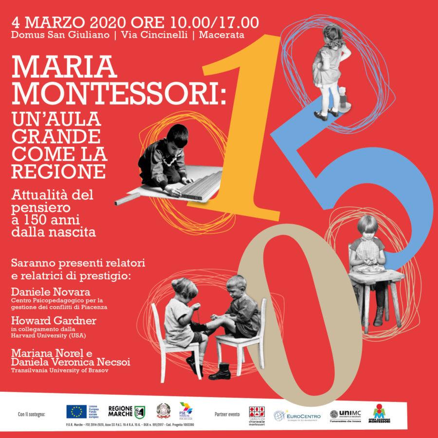 Maria Montessori: un'aula grande come la regione